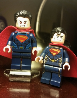 Compared to the Man of Steel minifigure